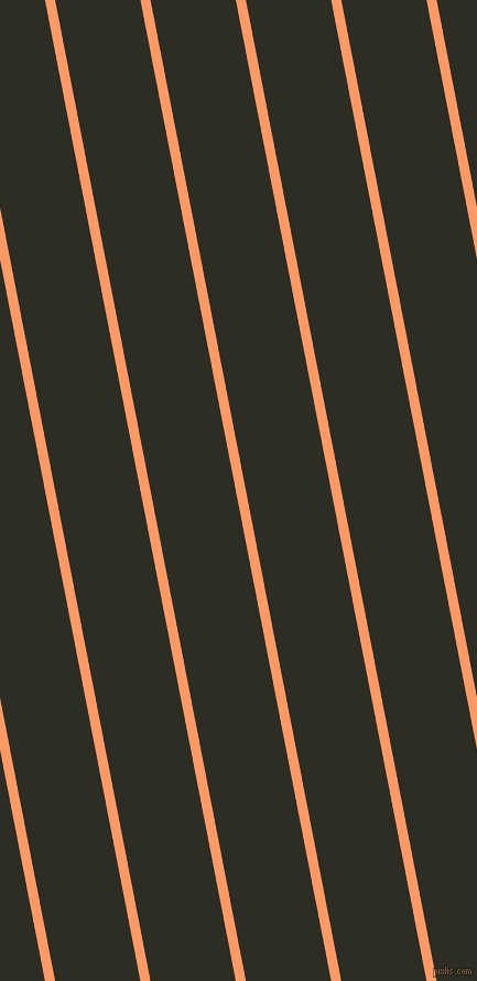 101 degree angle lines stripes, 9 pixel line width, 76 pixel line spacing, Atomic Tangerine and Karaka angled lines and stripes seamless tileable
