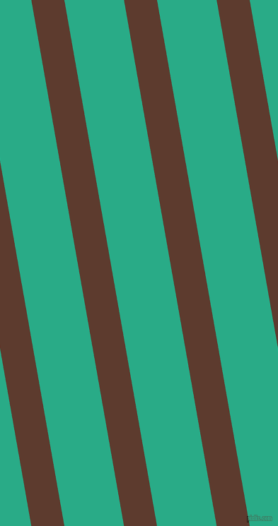 100 degree angle lines stripes, 46 pixel line width, 83 pixel line spacing, Cioccolato and Jungle Green angled lines and stripes seamless tileable