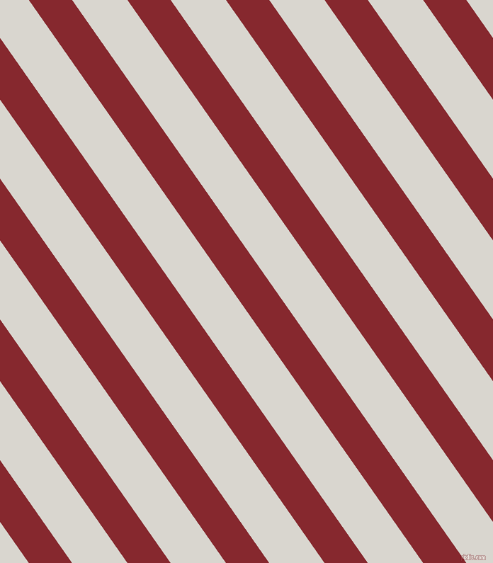 125 degree angle lines stripes, 50 pixel line width, 64 pixel line spacing, Flame Red and Timberwolf angled lines and stripes seamless tileable