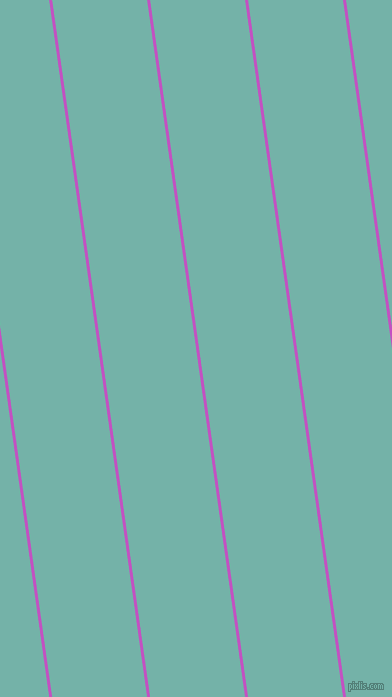 98 degree angle lines stripes, 3 pixel line width, 94 pixel line spacing, Fuchsia and Gulf Stream angled lines and stripes seamless tileable