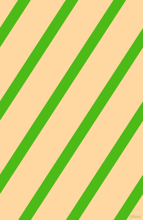 57 degree angle lines stripes, 35 pixel line width, 97 pixel line spacing, Kelly Green and Frangipani angled lines and stripes seamless tileable