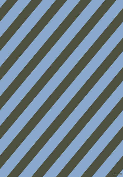 50 degree angle lines stripes, 34 pixel line width, 40 pixel line spacing, Kelp and Polo Blue angled lines and stripes seamless tileable