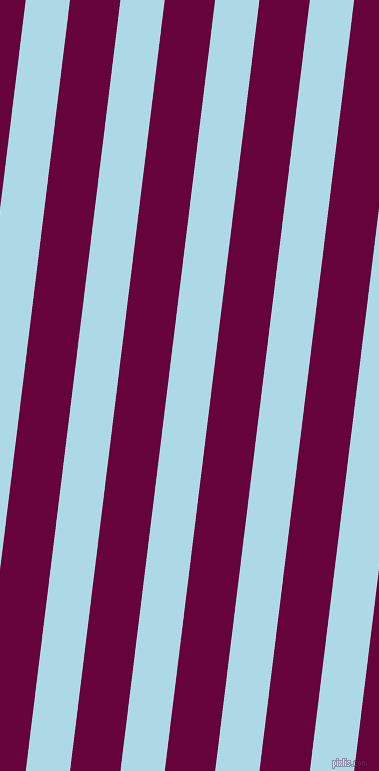 83 degree angle lines stripes, 44 pixel line width, 50 pixel line spacing, Light Blue and Tyrian Purple angled lines and stripes seamless tileable