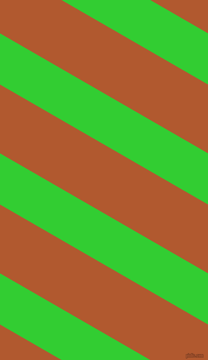 150 degree angle lines stripes, 90 pixel line width, 121 pixel line spacing, Lime Green and Fiery Orange angled lines and stripes seamless tileable