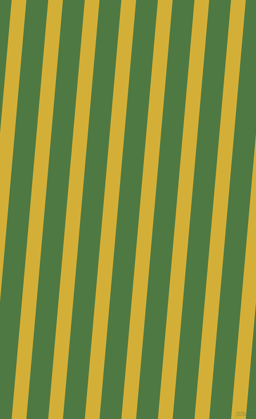 85 degree angle lines stripes, 29 pixel line width, 43 pixel line spacing, Metallic Gold and Fern Green angled lines and stripes seamless tileable
