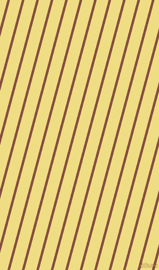 75 degree angle lines stripes, 5 pixel line width, 23 pixel line spacing, Mule Fawn and Light Goldenrod angled lines and stripes seamless tileable