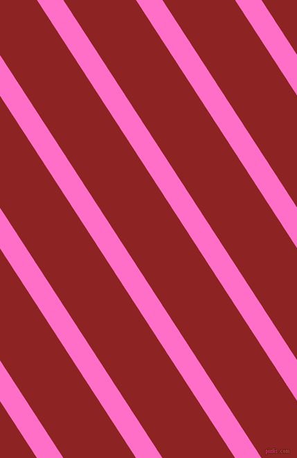 123 degree angle lines stripes, 32 pixel line width, 88 pixel line spacing, Neon Pink and Mandarian Orange angled lines and stripes seamless tileable