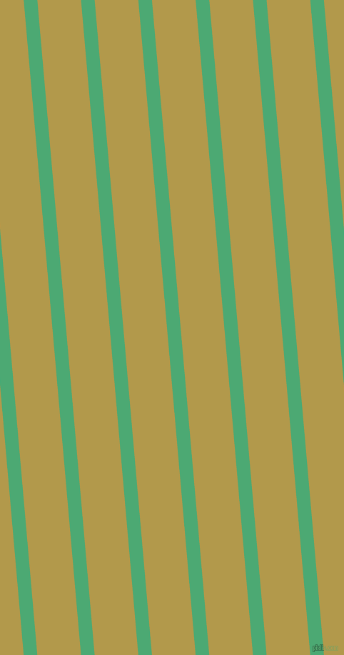 95 degree angle lines stripes, 19 pixel line width, 61 pixel line spacing, Ocean Green and Husk angled lines and stripes seamless tileable