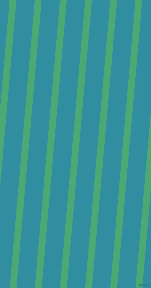 85 degree angle lines stripes, 23 pixel line width, 62 pixel line spacing, Ocean Green and Scooter angled lines and stripes seamless tileable