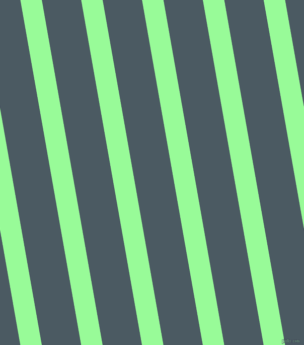 100 degree angle lines stripes, 42 pixel line width, 77 pixel line spacing, Pale Green and Fiord angled lines and stripes seamless tileable