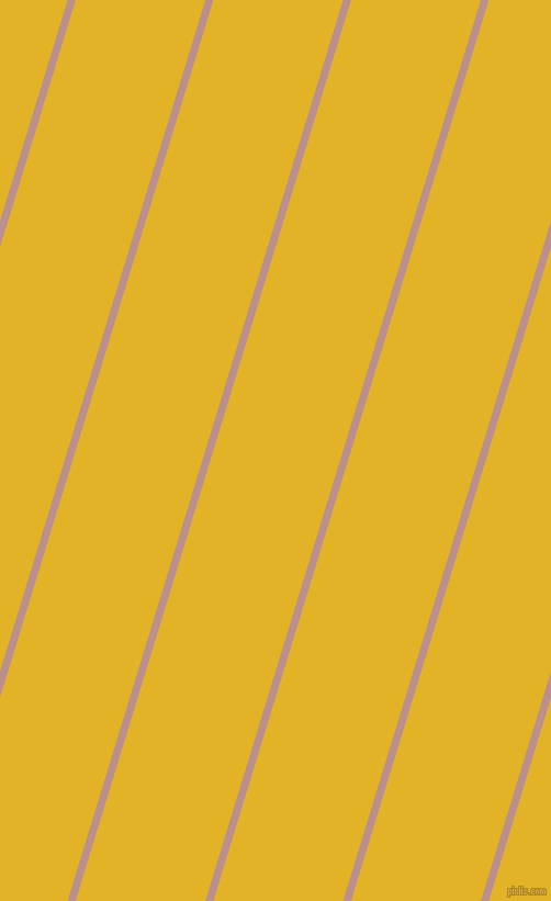 73 degree angle lines stripes, 7 pixel line width, 113 pixel line spacing, Rosy Brown and Gold Tips angled lines and stripes seamless tileable