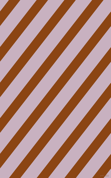 52 degree angle lines stripes, 37 pixel line width, 53 pixel line spacing, Saddle Brown and Maverick angled lines and stripes seamless tileable