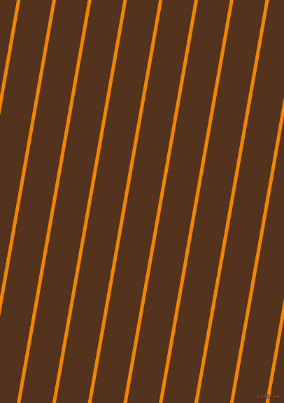 80 degree angle lines stripes, 5 pixel line width, 45 pixel line spacing, Tangerine and Brown Bramble angled lines and stripes seamless tileable