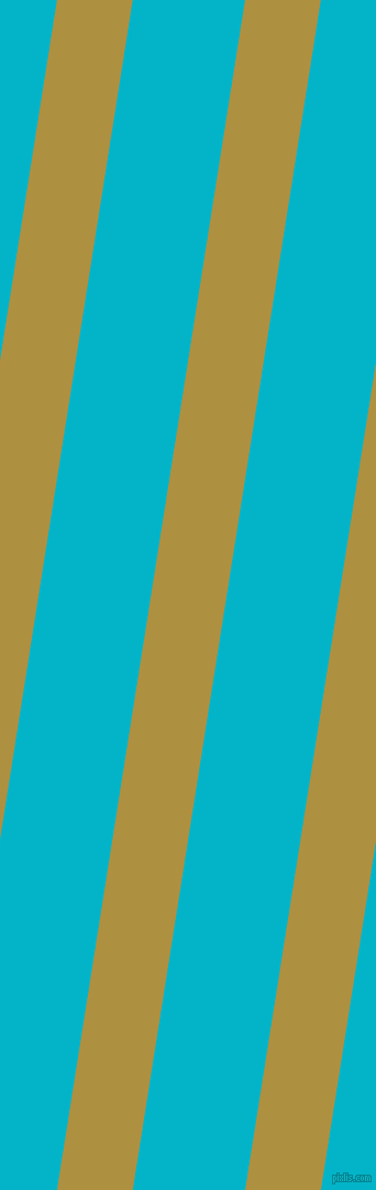 81 degree angle lines stripes, 68 pixel line width, 101 pixel line spacing, Turmeric and Iris Blue angled lines and stripes seamless tileable