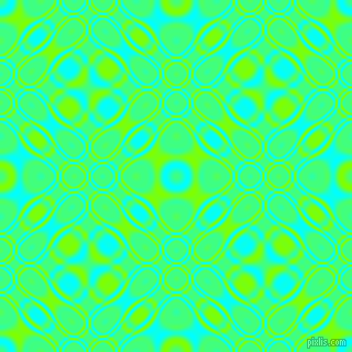 , Aqua and Chartreuse cellular plasma seamless tileable