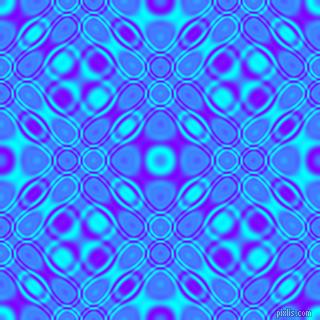 , Aqua and Electric Indigo cellular plasma seamless tileable