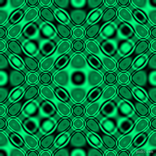 , Black and Spring Green cellular plasma seamless tileable