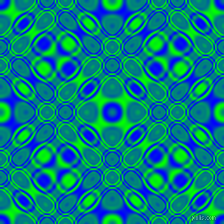 , Blue and Lime cellular plasma seamless tileable