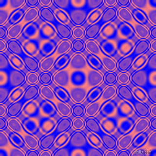 , Blue and Salmon cellular plasma seamless tileable