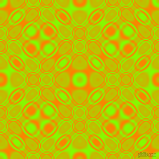 , Chartreuse and Dark Orange cellular plasma seamless tileable