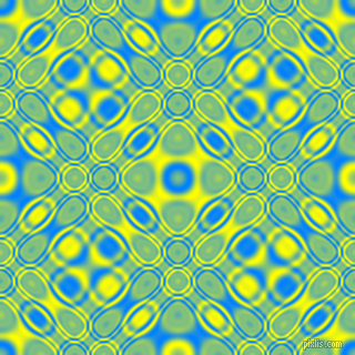 , Dodger Blue and Yellow cellular plasma seamless tileable