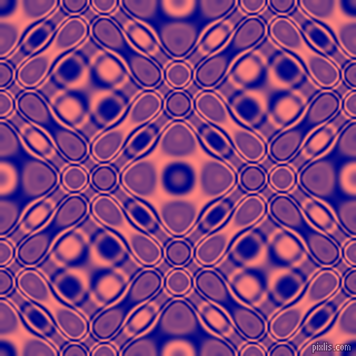 , Navy and Salmon cellular plasma seamless tileable