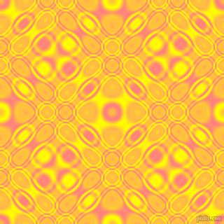 , Salmon and Yellow cellular plasma seamless tileable