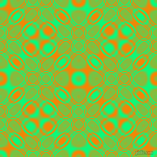 , Spring Green and Dark Orange cellular plasma seamless tileable