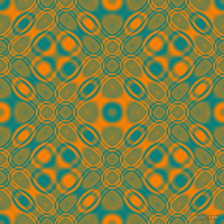 , Teal and Dark Orange cellular plasma seamless tileable