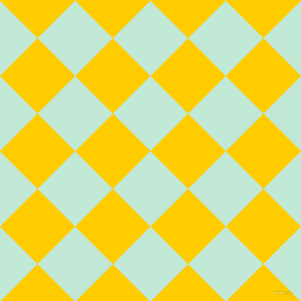 45/135 degree angle diagonal checkered chequered squares checker pattern checkers background, 107 pixel squares size, , Aero Blue and Tangerine Yellow checkers chequered checkered squares seamless tileable