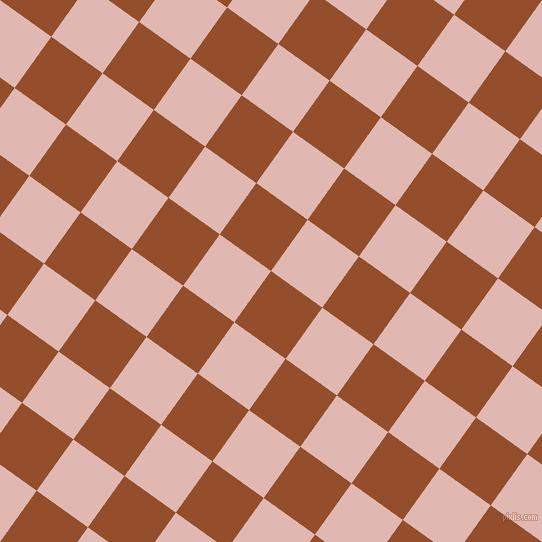 54/144 degree angle diagonal checkered chequered squares checker pattern checkers background, 63 pixel square size, , Alert Tan and Cavern Pink checkers chequered checkered squares seamless tileable
