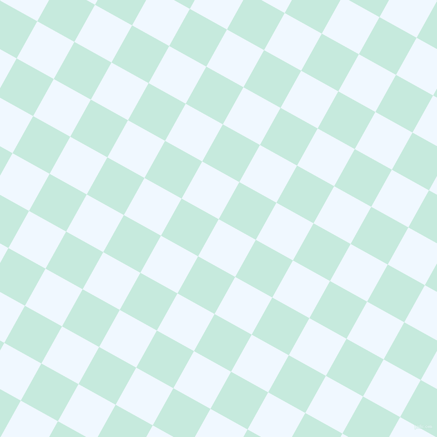 61/151 degree angle diagonal checkered chequered squares checker pattern checkers background, 85 pixel squares size, , Alice Blue and Mint Tulip checkers chequered checkered squares seamless tileable