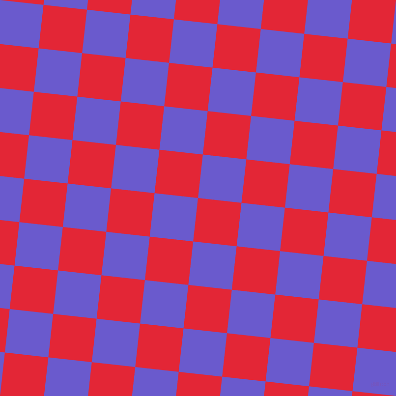84/174 degree angle diagonal checkered chequered squares checker pattern checkers background, 89 pixel squares size, , Alizarin and Slate Blue checkers chequered checkered squares seamless tileable