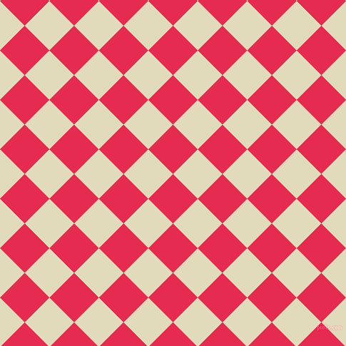45/135 degree angle diagonal checkered chequered squares checker pattern checkers background, 49 pixel squares size, , Amaranth and Coconut Cream checkers chequered checkered squares seamless tileable