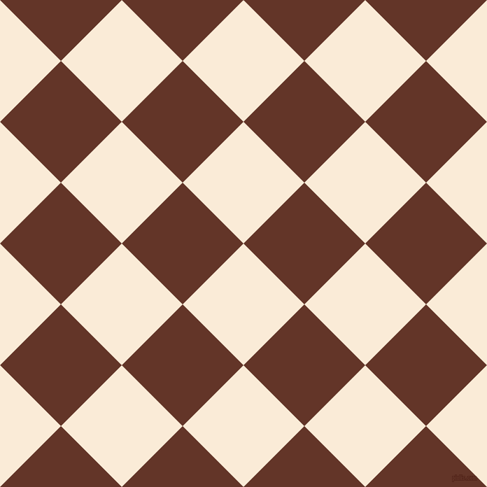 45/135 degree angle diagonal checkered chequered squares checker pattern checkers background, 123 pixel squares size, , Antique White and Hairy Heath checkers chequered checkered squares seamless tileable
