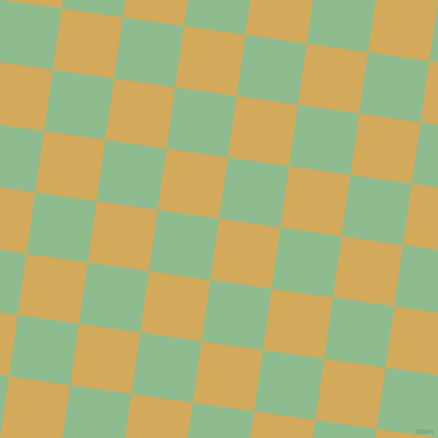 82/172 degree angle diagonal checkered chequered squares checker pattern checkers background, 123 pixel square size, , Apache and Dark Sea Green checkers chequered checkered squares seamless tileable