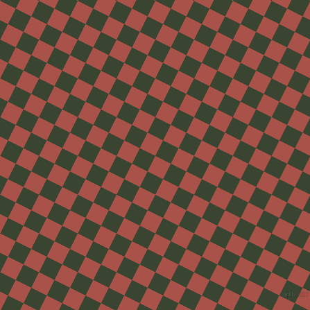 63/153 degree angle diagonal checkered chequered squares checker pattern checkers background, 25 pixel square size, , Apple Blossom and Mallard checkers chequered checkered squares seamless tileable