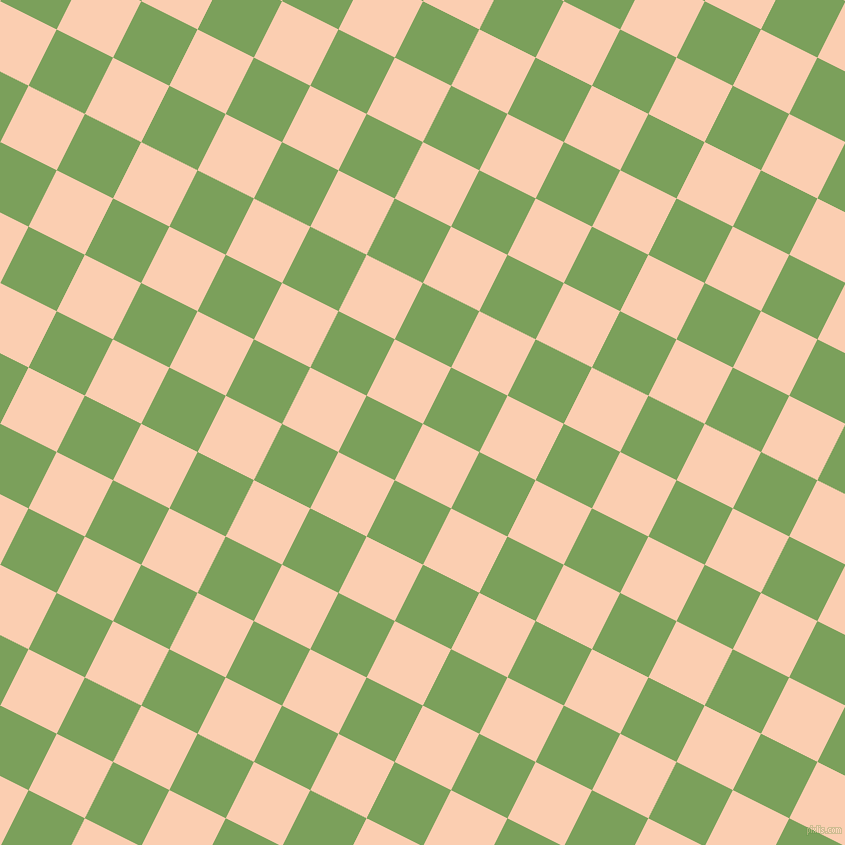63/153 degree angle diagonal checkered chequered squares checker pattern checkers background, 63 pixel square size, , Apricot and Asparagus checkers chequered checkered squares seamless tileable