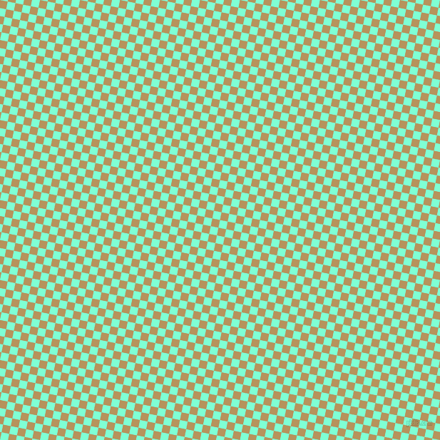 79/169 degree angle diagonal checkered chequered squares checker pattern checkers background, 11 pixel square size, , Aquamarine and Barley Corn checkers chequered checkered squares seamless tileable