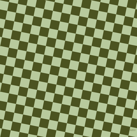 79/169 degree angle diagonal checkered chequered squares checker pattern checkers background, 34 pixel square size, , Army green and Sprout checkers chequered checkered squares seamless tileable