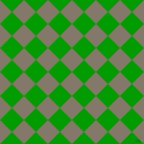 45/135 degree angle diagonal checkered chequered squares checker pattern checkers background, 68 pixel square size, , Arrowtown and Islamic Green checkers chequered checkered squares seamless tileable