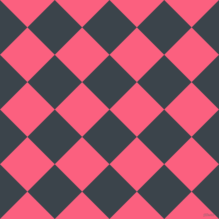 45/135 degree angle diagonal checkered chequered squares checker pattern checkers background, 132 pixel squares size, , Arsenic and Brink Pink checkers chequered checkered squares seamless tileable
