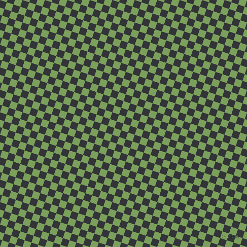 72/162 degree angle diagonal checkered chequered squares checker pattern checkers background, 14 pixel square size, , Asparagus and Ebony Clay checkers chequered checkered squares seamless tileable
