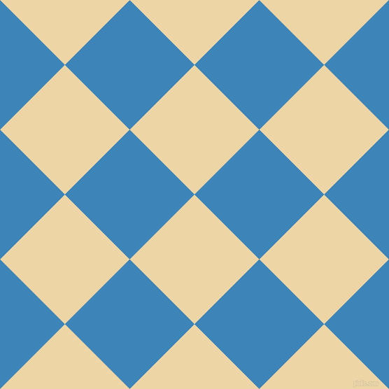 45/135 degree angle diagonal checkered chequered squares checker pattern checkers background, 131 pixel squares size, , Astra and Curious Blue checkers chequered checkered squares seamless tileable