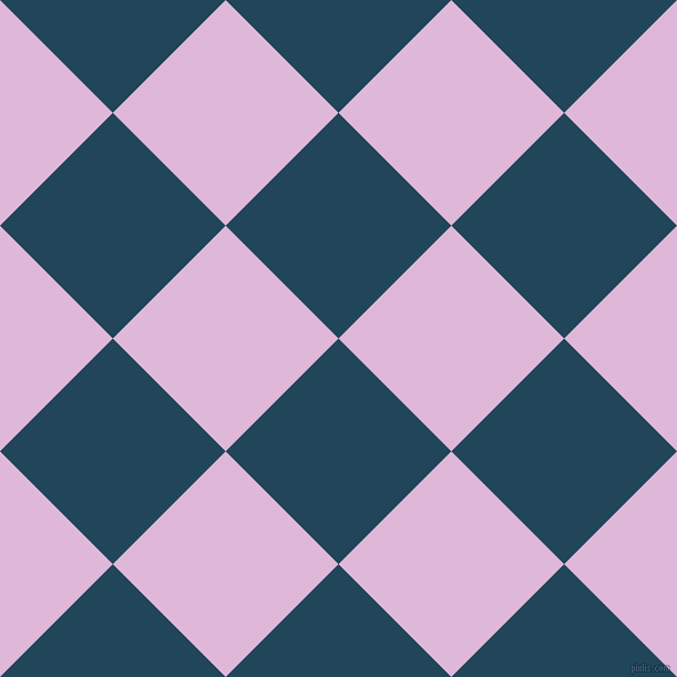 45/135 degree angle diagonal checkered chequered squares checker pattern checkers background, 144 pixel square size, , Astronaut Blue and French Lilac checkers chequered checkered squares seamless tileable