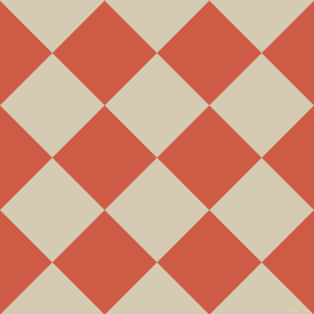 45/135 degree angle diagonal checkered chequered squares checker pattern checkers background, 149 pixel square size, Aths Special and Dark Coral checkers chequered checkered squares seamless tileable