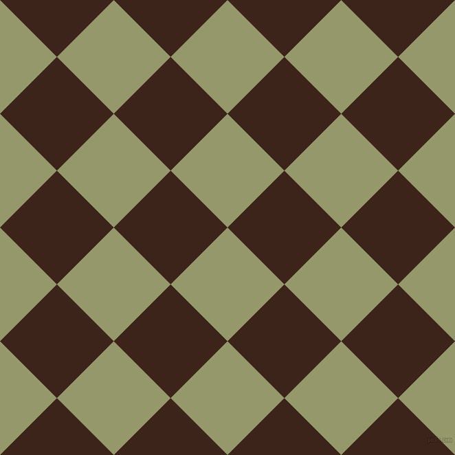 45/135 degree angle diagonal checkered chequered squares checker pattern checkers background, 117 pixel squares size, , Avocado and Brown Pod checkers chequered checkered squares seamless tileable