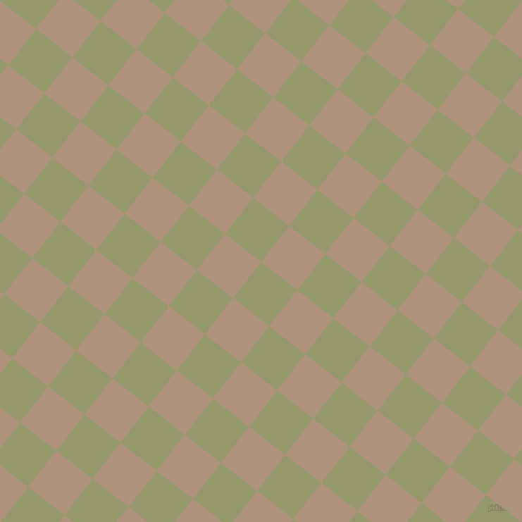 52/142 degree angle diagonal checkered chequered squares checker pattern checkers background, 65 pixel square size, , Avocado and Sandrift checkers chequered checkered squares seamless tileable