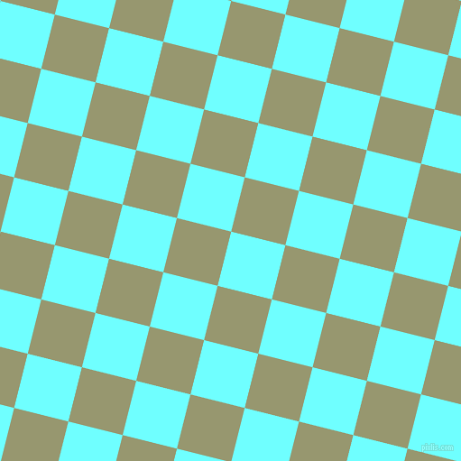 76/166 degree angle diagonal checkered chequered squares checker pattern checkers background, 62 pixel square size, Baby Blue and Malachite Green checkers chequered checkered squares seamless tileable