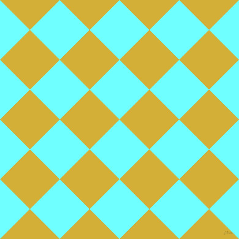 45/135 degree angle diagonal checkered chequered squares checker pattern checkers background, 138 pixel squares size, , Baby Blue and Metallic Gold checkers chequered checkered squares seamless tileable
